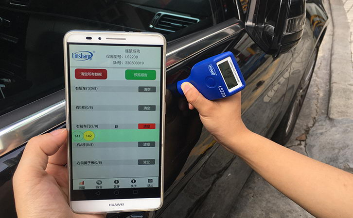 Bluetooth paint thickness gauge
