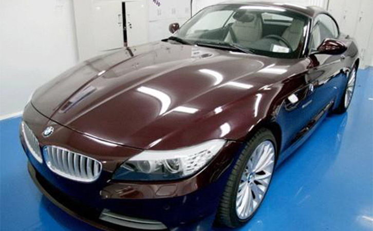 automotive paint surface