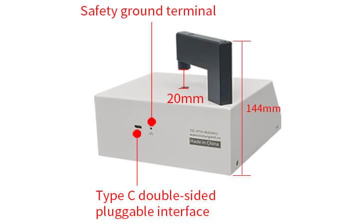 spectrum transmission meter reverse view