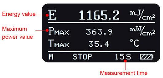 ultraviolet energy meter Stop interface