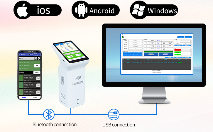 colorimeter support mobile App and PC software