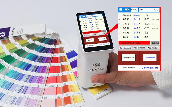 colorimeter measue color chart