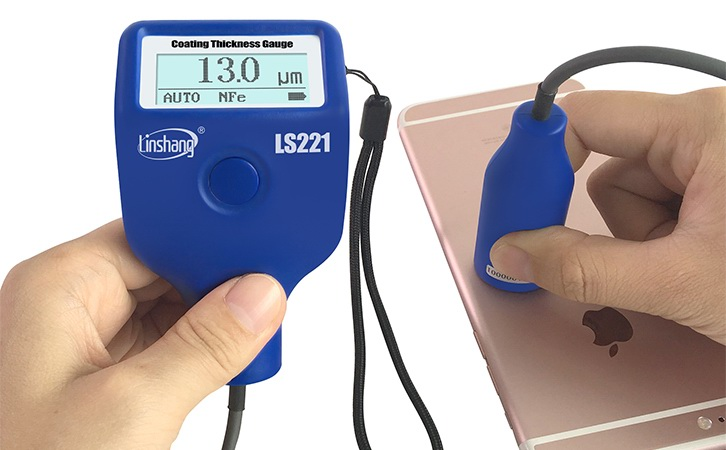 221 coating thickness gauge test the mobile phone back