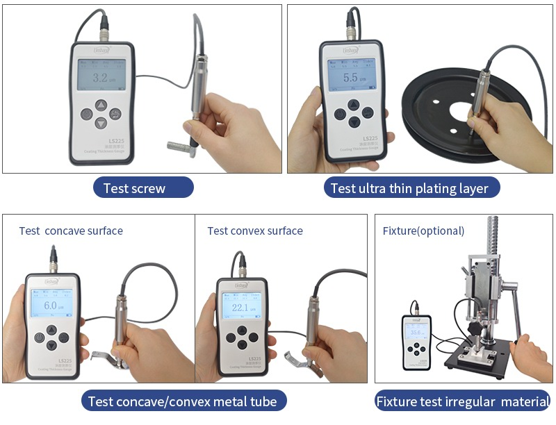 plating thickness gauge test different materials