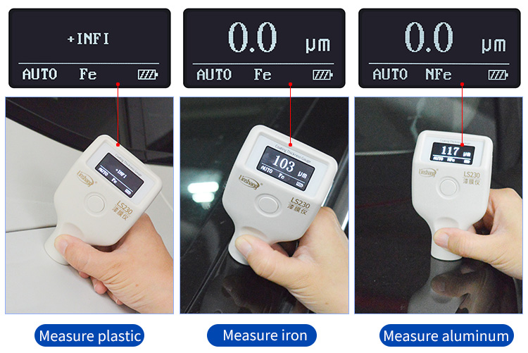 paint thickness gauge use on different substrates