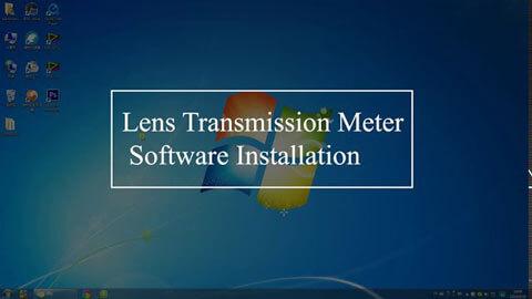 lens transmission meter software operation