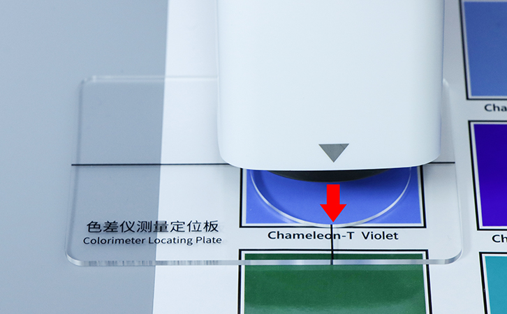 colorimeter with locating plate
