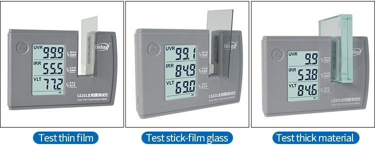 LS101 solar film tester display