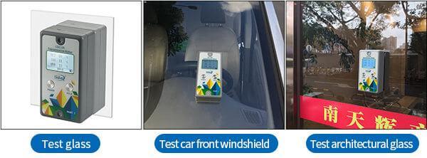LS110A window tint detector test different materials