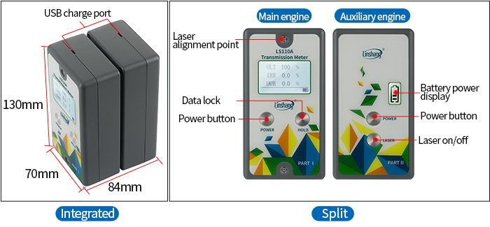 LS110A automotive window tint meter appearance