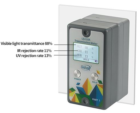 split transmission meter test glass
