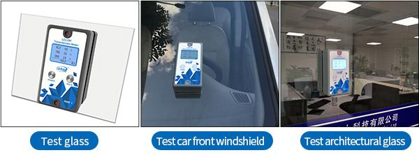 LS110H window tint detector test different materials