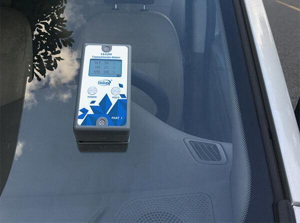 window tint meter test car front windshield