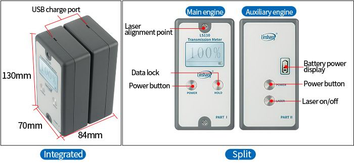 LS110 automotive window tint meter appearance