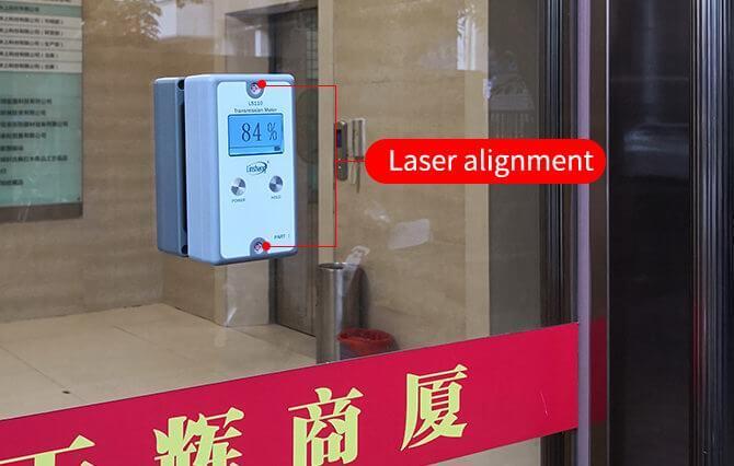 split light transmittance meter laser alignment