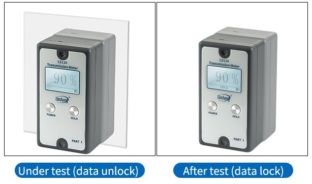LS110 split light transmittance meter HOLD function display