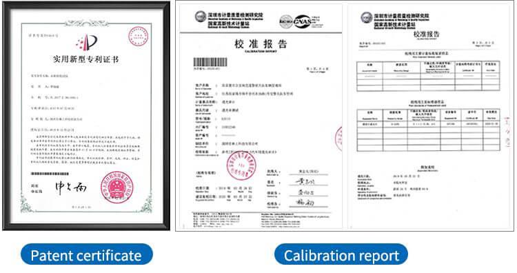 Light transmittance meter patent certificate