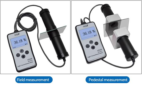 two measurement methods of LS116 light transmittance meter