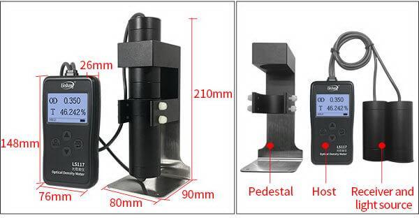 LS117 light transmission meter appearance
