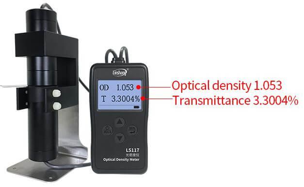 two test data of LS117 optical density meter