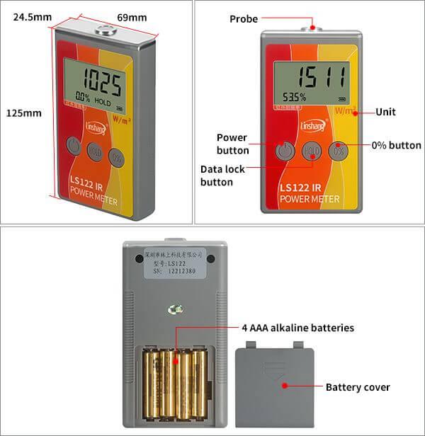 LS122 solar power meter appearance