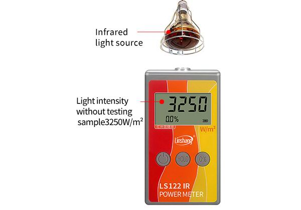 LS122 infrared power meter measure light intensity