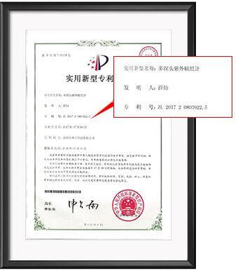 Patent Certificate for LS125 UV radiometer