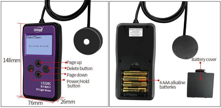LS126C UV light meter appearance
