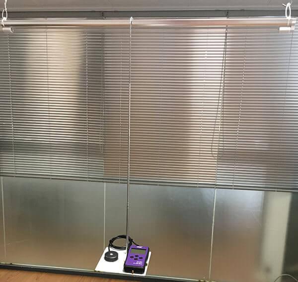 UV light meter display