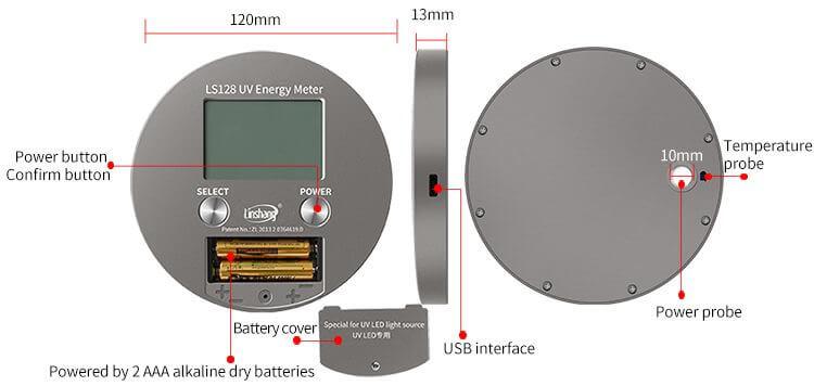 LS128 UV energy meter
