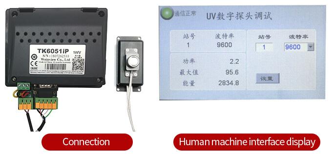 LS129 UV digital probe human-machine interface connection