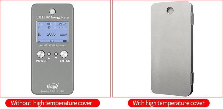 UV energy meter high temperature cover