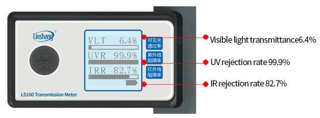 LS160 solar film UV tester measured film