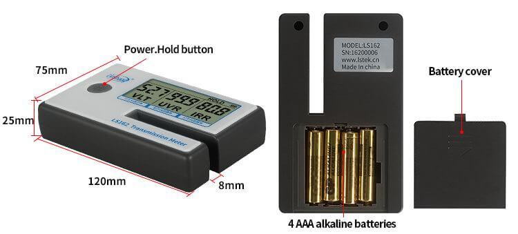 LS162 solar film transmission meter appearance