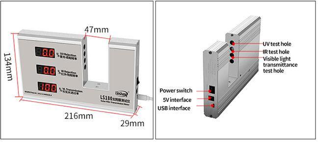 solar film transmission meter appearance