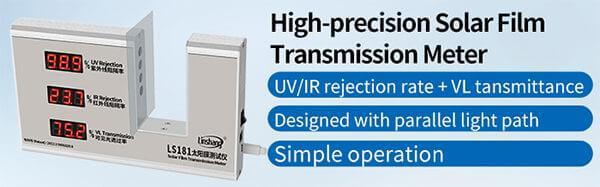 LS181 window tint measurement device display