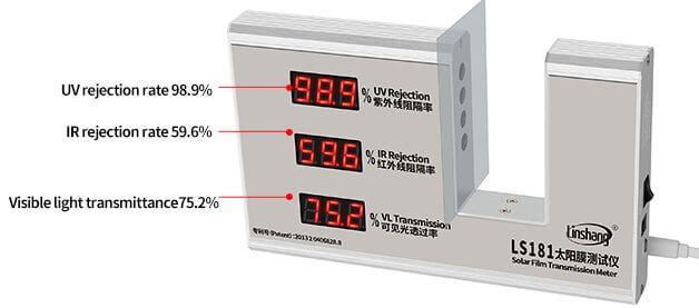 LS181 window tint meter test solar film