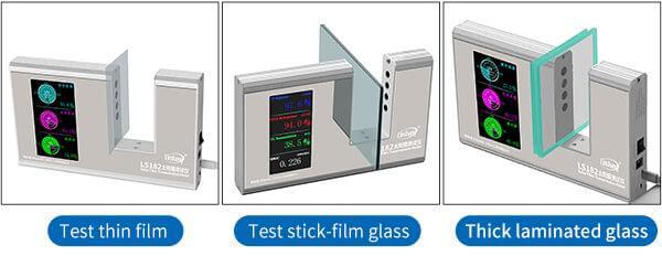 solar film tester test different materials