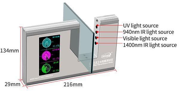 LS182 solar film transmission meter appearance
