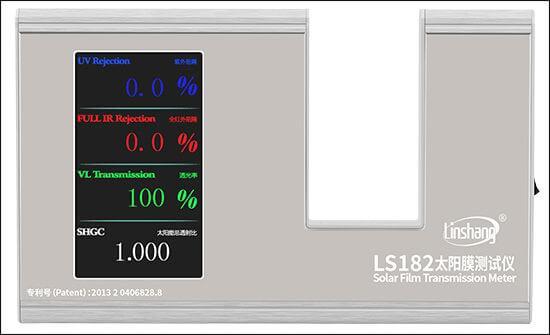 LS182 solar film tester pass self -calibration