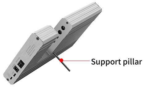 UV transmission tester support pillar