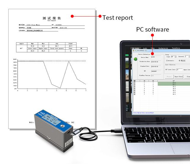 LS191 portable gloss meter PC software