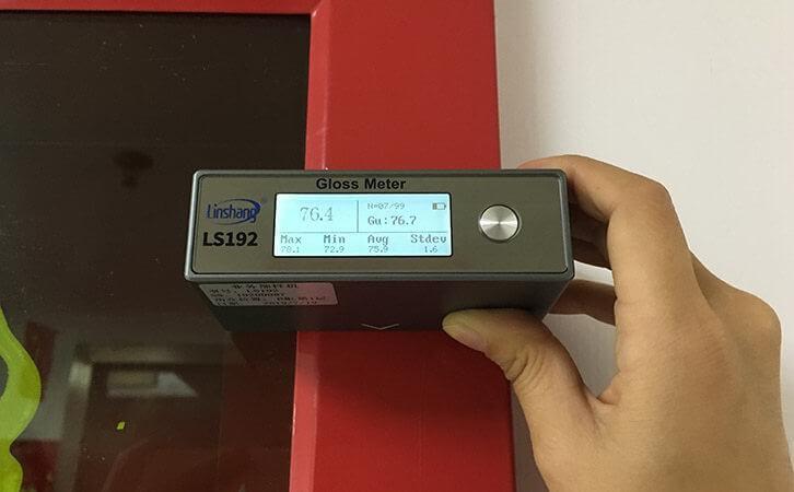 gloss meter test power coating gloss
