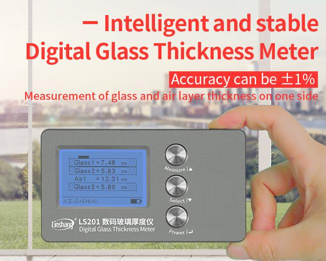 LS201 laminated glass thickness gauge features