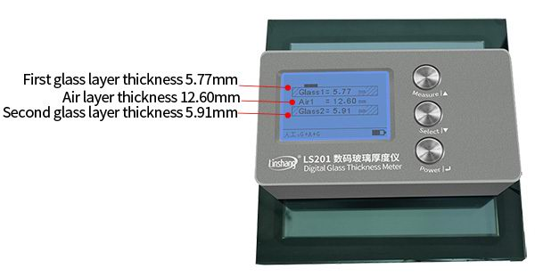 LS201 glass thickness meter test double glazing