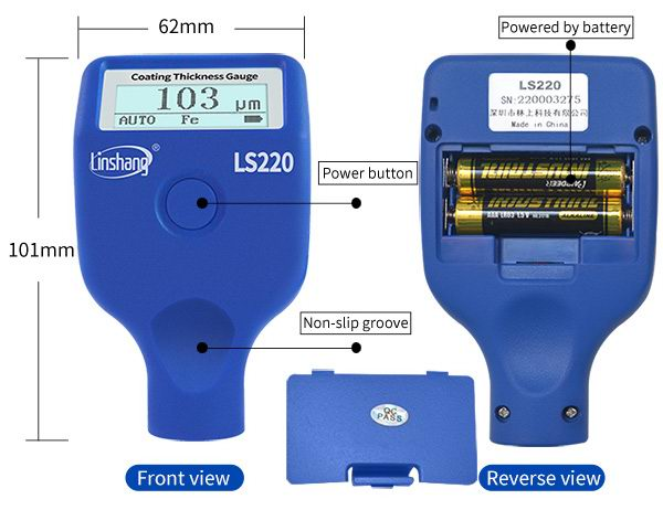 LS220 automotive paint meter
