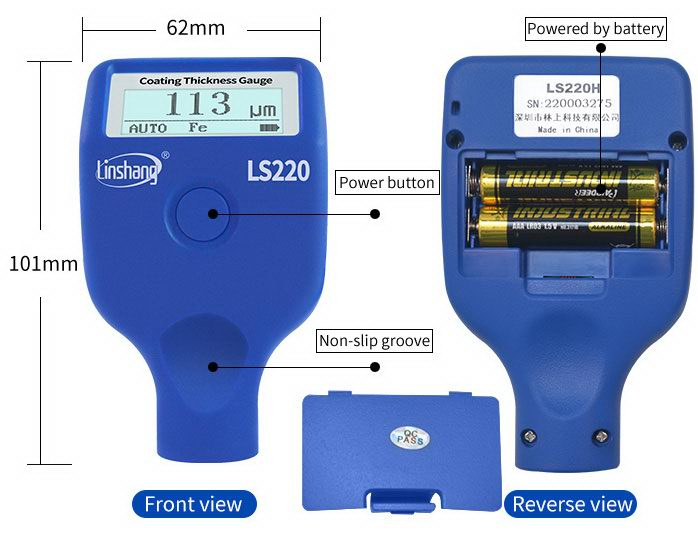 dry film thickness gauge appearance
