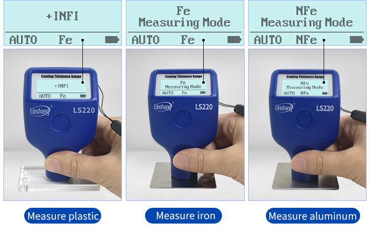 LS220H mil gauge can automatically identify the different substrates