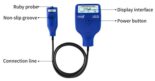 LS221 paint thickness gauge