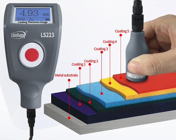 LS223 coating thickness gauge test large thickness materials